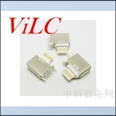 USB 3.1 侧插TYPE C母座 塑胶头 端子镀金3U