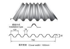 750型彩鋼瓦/樓承板金蘇生產廠家