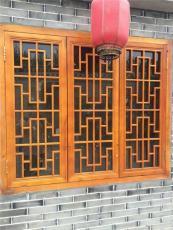 西安仿古门窗定制 松木门窗批发价格 镂空实
