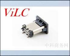 24P立貼3.1 USB TYPE C母座/四腳插件 有柱