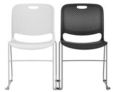实心管架塑料椅 时尚塑料椅培训椅