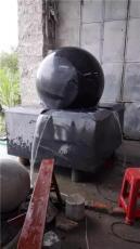 花岗岩风水球 芝麻黑风水球 黑色石材风水球