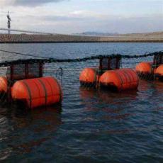 发电厂取水口拦污浮箱垃圾拦截装置