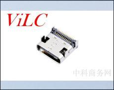 24P板上雙排SMD-鋼殼TYPE C母座 兩定位柱