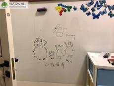 定制家用兒童學習畫畫自粘磁性白板 單面