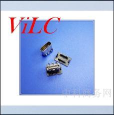 大电流Type-C母座立式贴片 长9.30mm 有胶塞