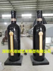 广州玻璃钢红酒瓶雕塑报价