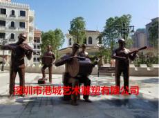 深圳校园玻璃钢仿铜音乐主题人物雕塑价格