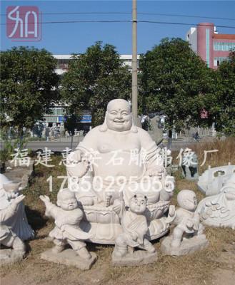 仿唐宋石雕弥勒像定做汉白玉石材弥勒菩萨