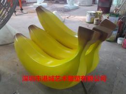 创意户外仿真水果玻璃钢香蕉雕塑供应商