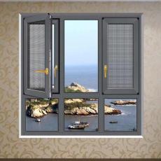 深圳厂家批发135系列窗纱一体断桥铝平开窗