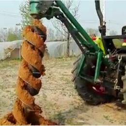大连植树挖坑机  电线杆30吨挖坑机厂家