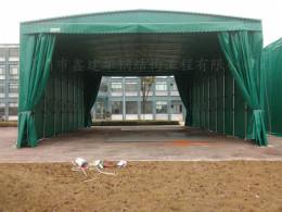 太仓移动推拉雨篷抗风 学校通道遮阳棚厂家