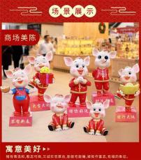 供应商场春节美陈玻璃钢立体卡通雕塑厂家