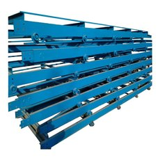 自動升降擋邊輸送機耐高溫耐磨 貨柜裝卸用