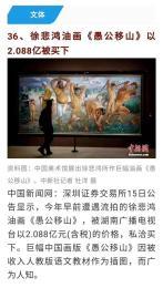 近现代画家徐飞鸿愚公愚山以2亿88万成功交