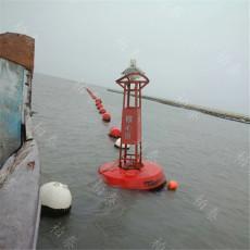 京杭大运河警示航标太阳能灯浮标安装