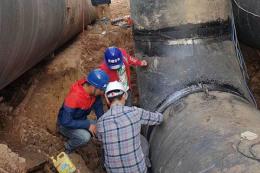 柳州螺旋钢管用于自来水管道承接压力管安装