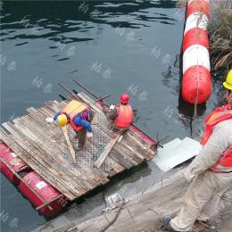 水电站塑料拦污漂一体式浮筒价格