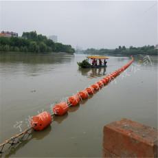 取水口拦污装置封闭式拦污浮排厂家