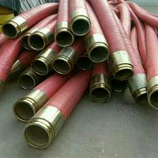 内蒙古6寸高压钢丝编织胶管 带法兰橡胶管