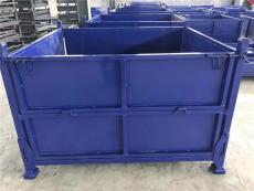 山东折叠金属周转箱 堆垛式金属周转箱