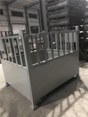 风机生产厂零件用金属周转箱 可折叠堆垛