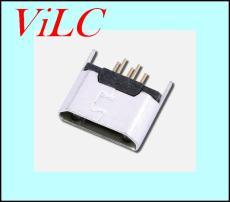 180度直立式插板 MICRO 5P母座 二脚固定DIP