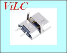 MICRO 2P前插后贴充电母座 简易款安卓尾插