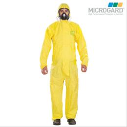 供应微护佳2300化学防护服连体带帽耐酸碱服