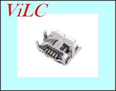 MICRO 5P母座 牛角7.15-4.85/脚高2.0 四脚