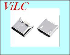 供应MICRO 5P沉板1.2母座-后两脚DIP 带凸包