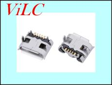 MICRO USB 5P母座 牛角 3A大电流 快充尾插