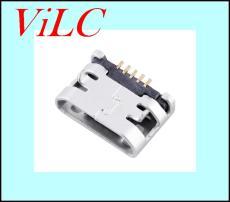 MICRO USB 5P母座-带焊盘 无柱 DIP7.2 编带