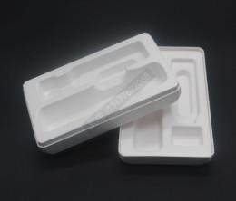 河南济源纸浆包装盒自拍杆纸托白色定制