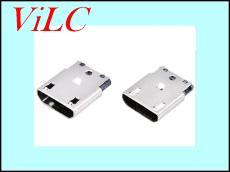 MICRO B型5P焊线式母座-直边迈克 凸包无孔