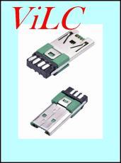MICRO USB 7Pin公头OP快充安卓大电流V8插头