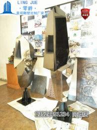 室内简约不锈钢镜面雕塑组合办公室几何摆件