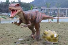 侏罗纪公园展厅展示仿真动物玻璃钢恐龙雕塑