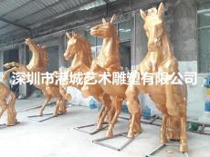 供应公园景观动物玻璃钢仿真马雕塑摆件
