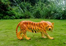 供应景区活动展览玻璃钢仿真动物老虎雕塑