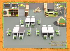 朗哥幼儿园家具绿色森林系列课桌椅教室家具