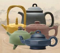 五色五技紫砂壶套组 中国宜兴匠心臻品工艺