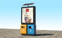 免费投放太阳能广告垃圾箱路牌广告灯箱厂家
