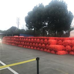 塑料拦漂带钢丝绳连接拦污浮筒价格
