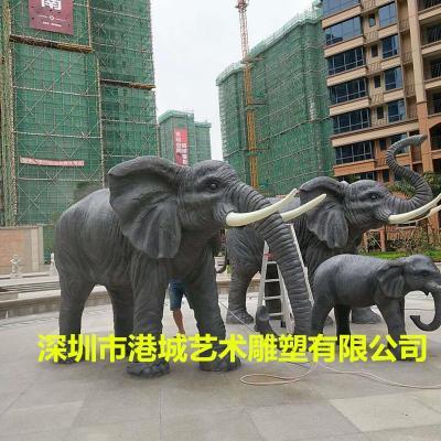 深圳玻璃钢仿真大象雕塑公司