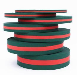 外贸采购技巧 库存绿红绿涤纶织带批发价