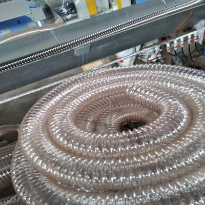 透明钢丝管辽宁PU吸尘管聚氨酯材质防静电