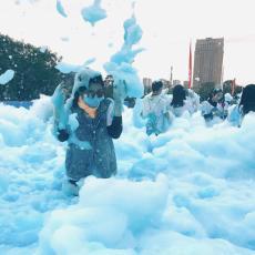 供應內蒙古新疆泡沫派對泡沫機戶外噴射泡沫