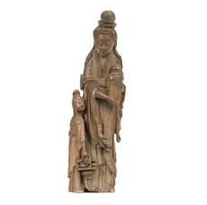 明晚期/清早期 竹雕仙女立像